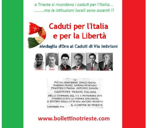 caduti del 1953 per trieste italiana